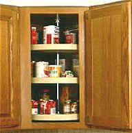 three level lazy susan for corner kitchen wall cabinet