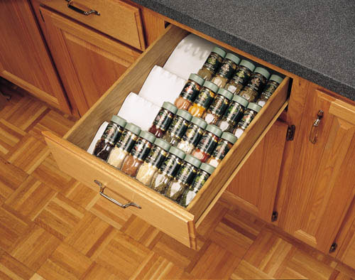 Kitchen Cabinet Drawer Spice Bottle Storage Insert Organizer Spice